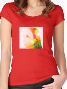 Psychedelic Fairy Child Women's Fitted Scoop T-Shirt