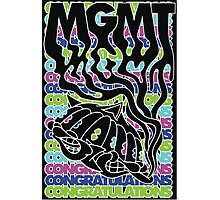 MGMT Cat Photographic Print