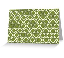 Green Clover Flowers Greeting Card