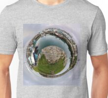 Hurry Head Harbour, Carnlough, County Antrim - Sky out Unisex T-Shirt