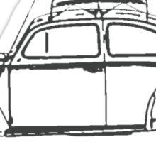 Old School VW Beetle  Sticker