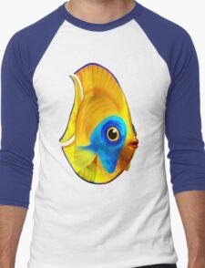 Tropical Fish on Clear Ocean Water 3D Men's Baseball ¾ T-Shirt
