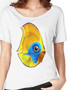 Tropical Fish on Clear Ocean Water 3D Women's Relaxed Fit T-Shirt