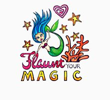 Flaunt Your Magic: Original Watercolor Mermaid Illustration Womens Fitted T-Shirt