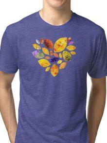 Autumn Leaf Heart Tri-blend T-Shirt