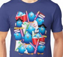 Back to School Cute Blue Birds Unisex T-Shirt