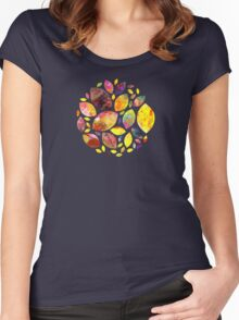 Autumn Leaf Mandala Women's Fitted Scoop T-Shirt