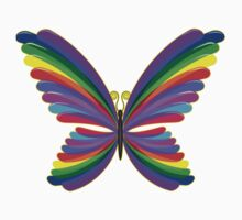 Butterfly Psychedelic Rainbow One Piece - Long Sleeve
