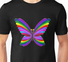 Butterfly Psychedelic Rainbow Unisex T-Shirt