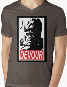 DEVOUR Mens V-Neck T-Shirt