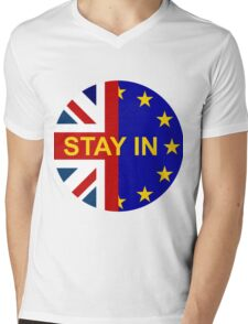 STAY IN! Mens V-Neck T-Shirt