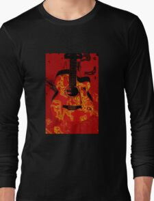 Red guitar abstract Long Sleeve T-Shirt