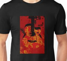 Red guitar abstract Unisex T-Shirt