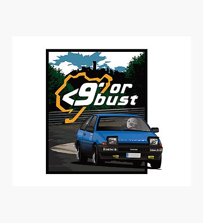Nurburgring <9' Or Bust Photographic Print