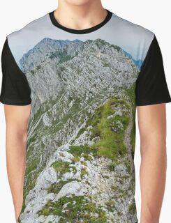 Mountain top panorama Graphic T-Shirt