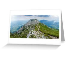 Mountain top panorama Greeting Card