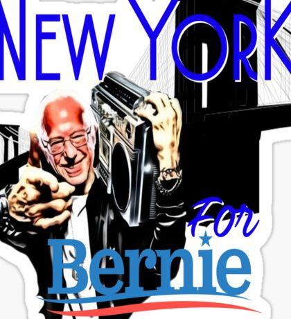 New York For Bernie Sanders Shirt Brooklyn Democrat President Hip Hop B-Boy NYC NY Funny Sticker