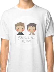 Jensen Ackles - Misha Collins - You Are Not Alone Classic T-Shirt
