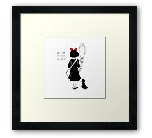 WE CAN FLY WITH OUR SPIRIT Framed Print