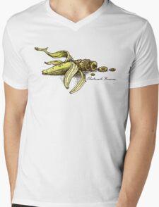 Steampunk Banana Mens V-Neck T-Shirt