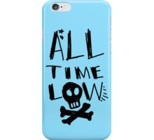 all time low logo with skull iPhone Case/Skin