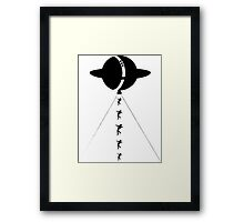 Alien Who? (Singular Version) Framed Print
