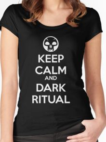 Keep Calm and Dark Ritual Women's Fitted Scoop T-Shirt