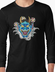 Blue Hannya Long Sleeve T-Shirt