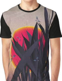 Red Heat (with Dragonflies) Graphic T-Shirt