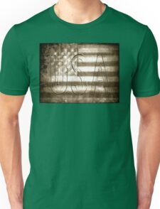 USA in Sepia Unisex T-Shirt