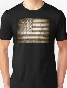 USA in Sepia T-Shirt