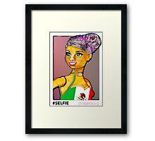 SENORA ALMA: LATINA BARBIE #SELFIE Framed Print