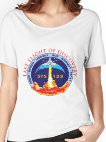 Last Flight of Discovery OV-103 Women's Relaxed Fit T-Shirt