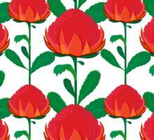 Australian Waratah pattern Sticker