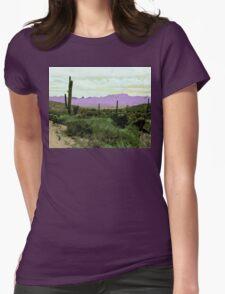 Purple Horizons Womens Fitted T-Shirt
