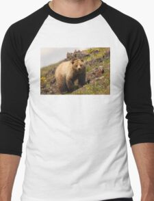 Grizzly & Wildflowers Men's Baseball ¾ T-Shirt