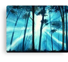Forest sunrays Canvas Print