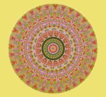 Happy Hippy Mandala One Piece - Short Sleeve
