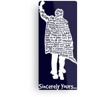 The Breakfast Club - Sincerely Yours - White Metal Print