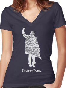 The Breakfast Club - Sincerely Yours - White Women's Fitted V-Neck T-Shirt