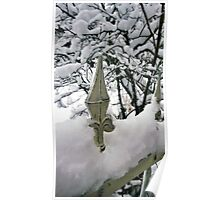 Fence in Winter Poster