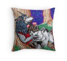 Pandaren and Worgen Cuddles Throw Pillow