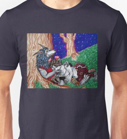 Pandaren and Worgen Cuddles Unisex T-Shirt