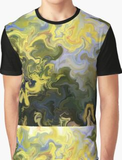 abstract, green, blue, nature, water, reflection, impressionist, Graphic T-Shirt