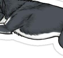 Grey Husky Lounging Sticker