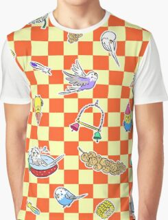 Budgie parrot pattern Graphic T-Shirt