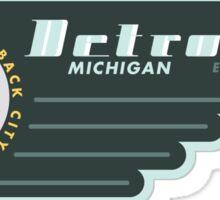 Detroit City Badge Sticker