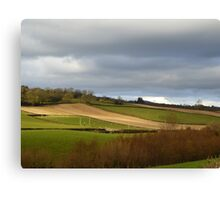 The Ploughed Fields Of Inch Island Canvas Print