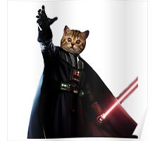 Cat Vader Kitty Starwars TW  Poster