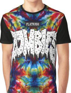 FBZ Red & Blue Tie dye background Graphic T-Shirt